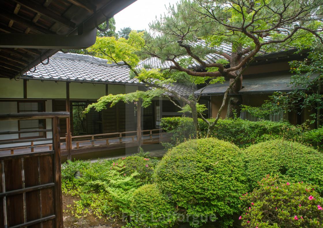 Garden in koto-in zen buddhist temple in daitoku-ji, Kansai