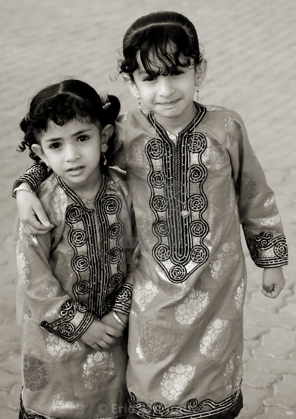 561f1215612a Two Bedouin Girls In Traditional Cloths