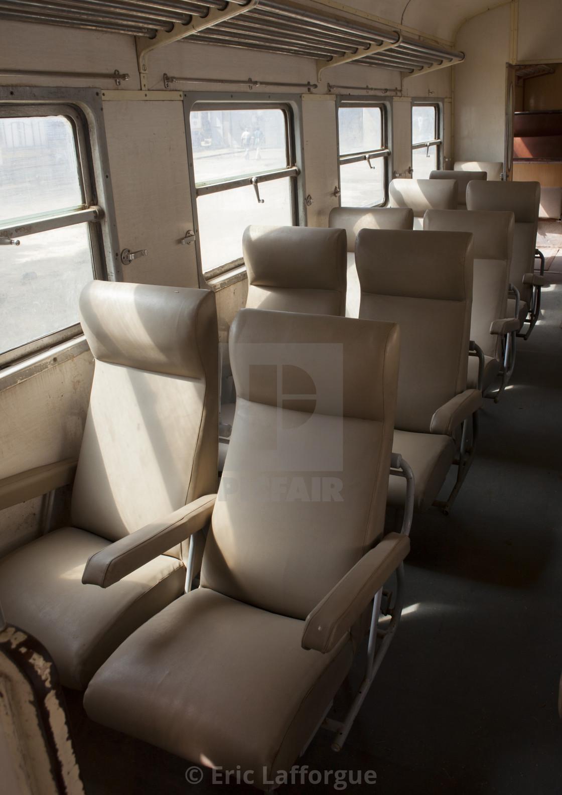 Inside Djibouti Addis Ababa Old Train First Class, Dire Dawa