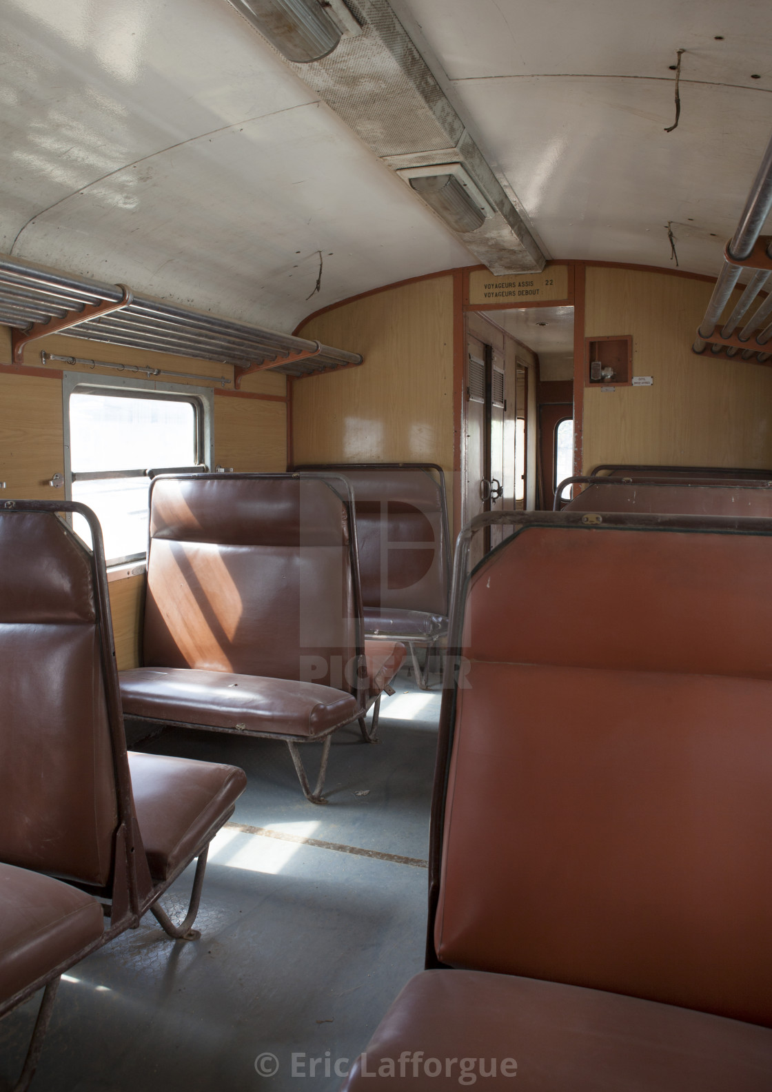 Inside Djibouti Addis Ababa Old Train Second Class, Dire
