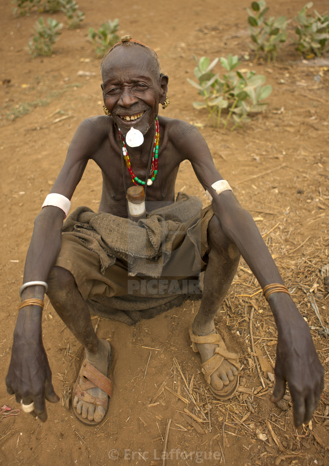Senior Dassanech Man With Tricky Look And Original Clay Hairstyle