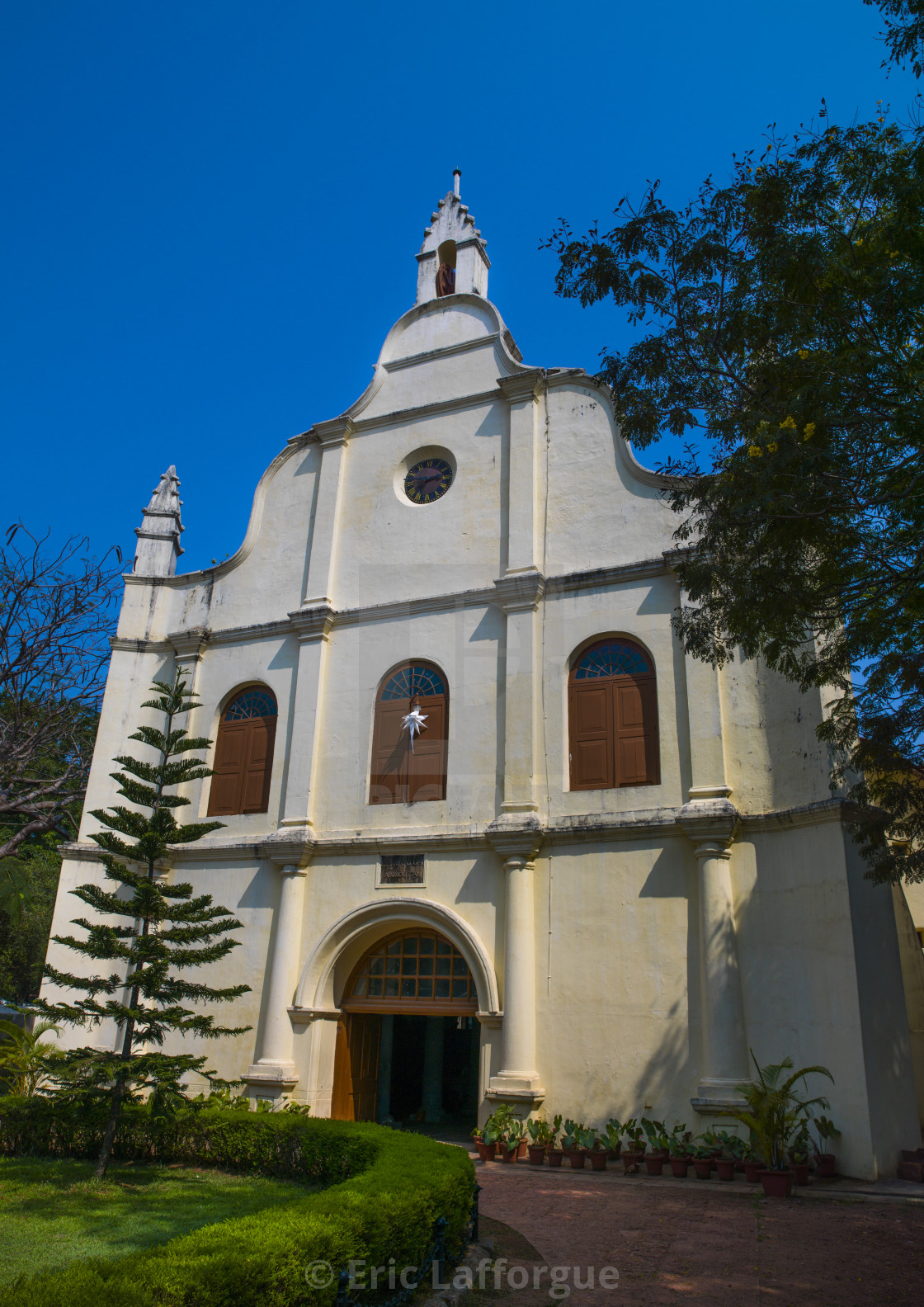 """Exterior Front Of St Francis Church, Kochi, India"" stock image"