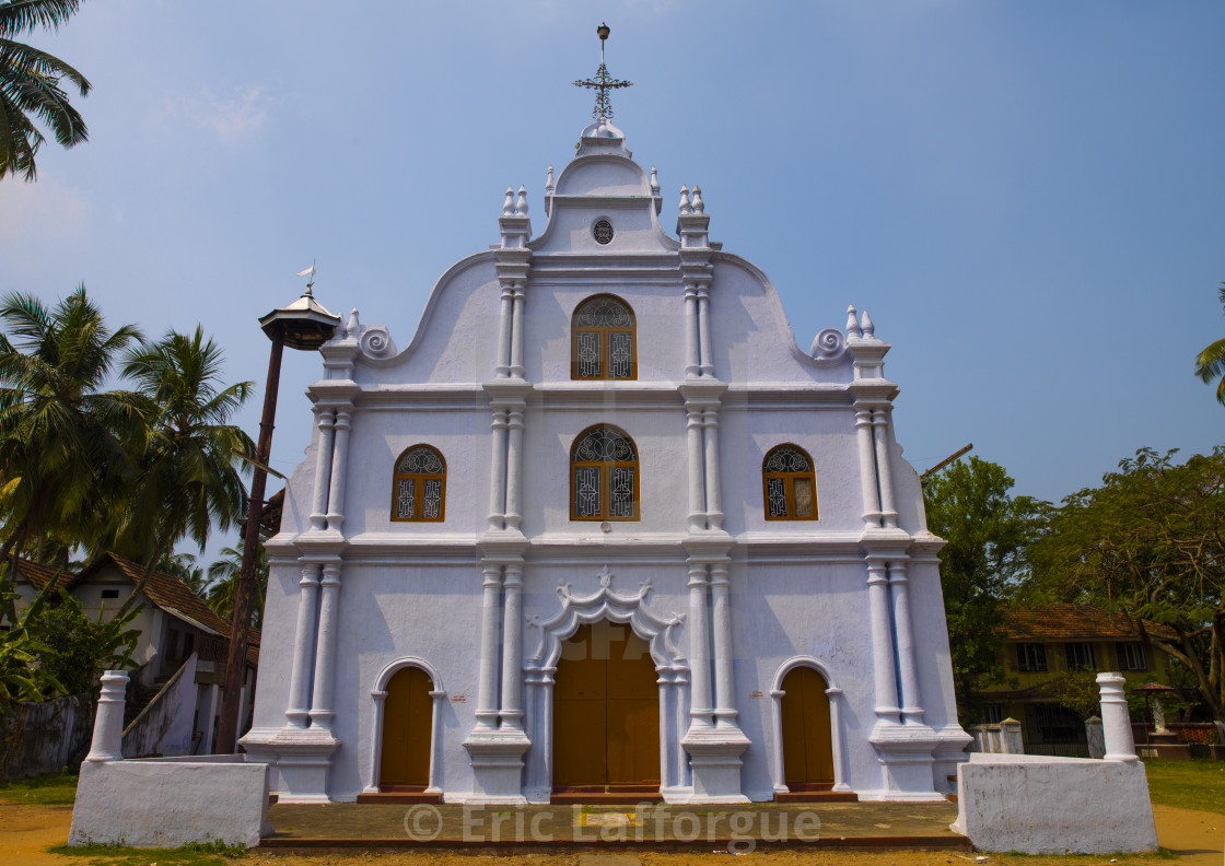 """The Holy Cross Church In Kochi, India"" stock image"