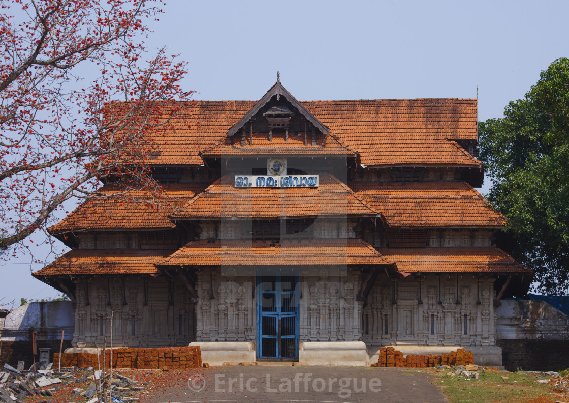 """Front Of The Vadakkunnathan Temple, Kochi, India"" stock image"