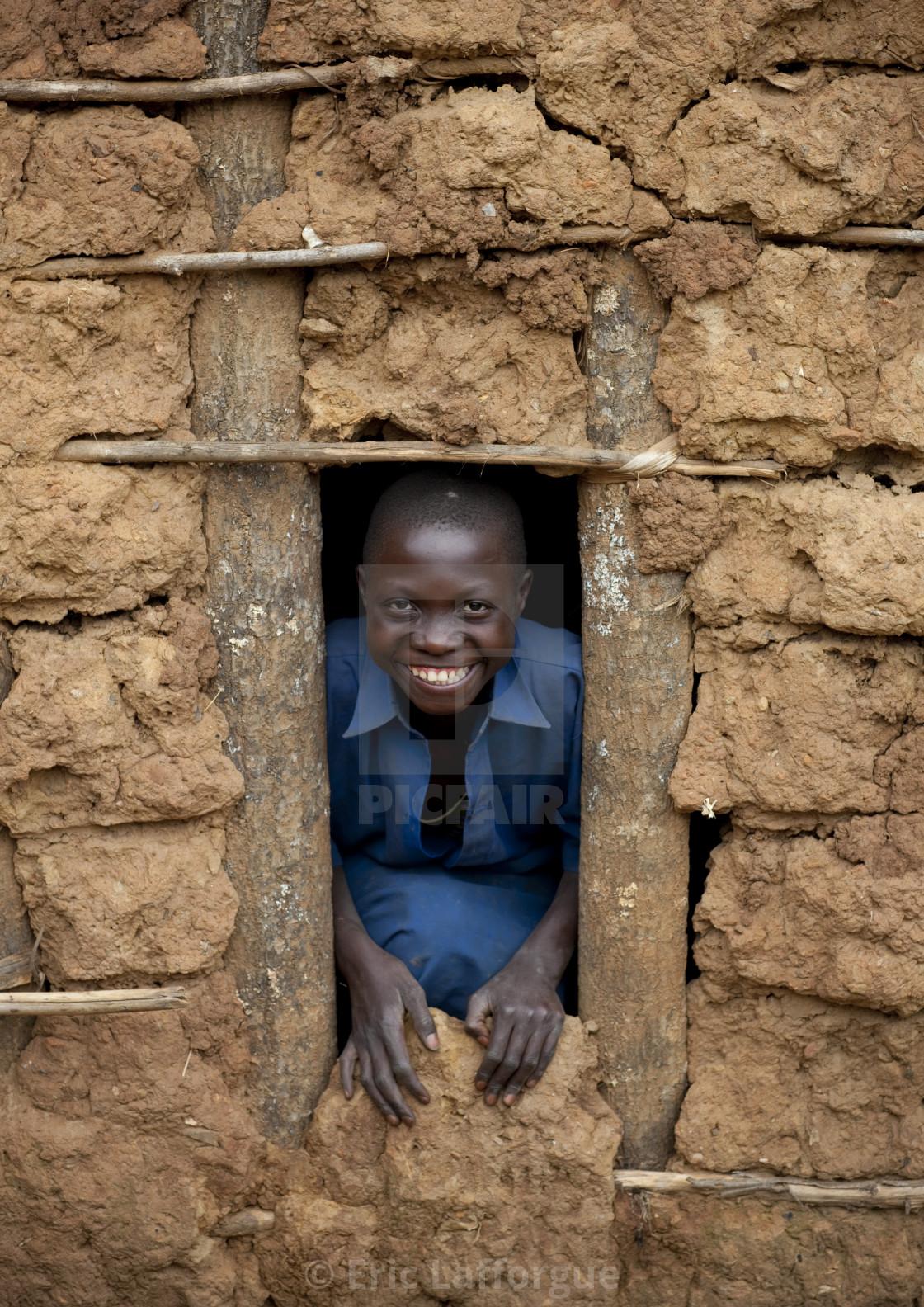 """""""Batwa tribe kid in cyamudongo village - rwanda"""" stock image"""