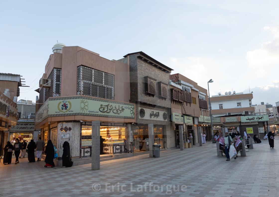 Shops in the souq area, Mecca province, Taïf, Saudi Arabia