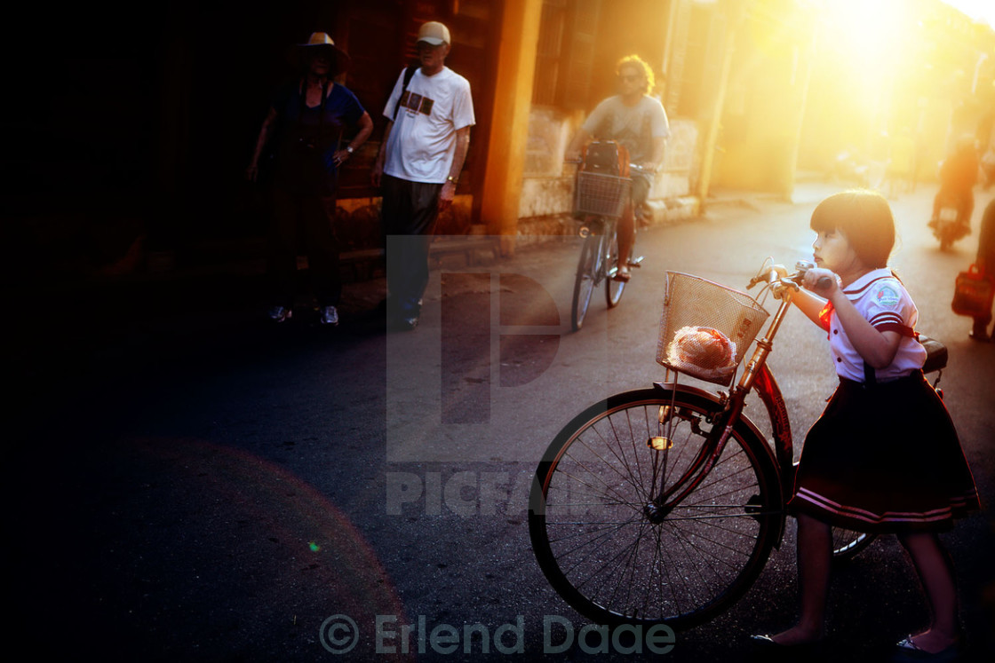 """Bicycle Girl"" stock image"