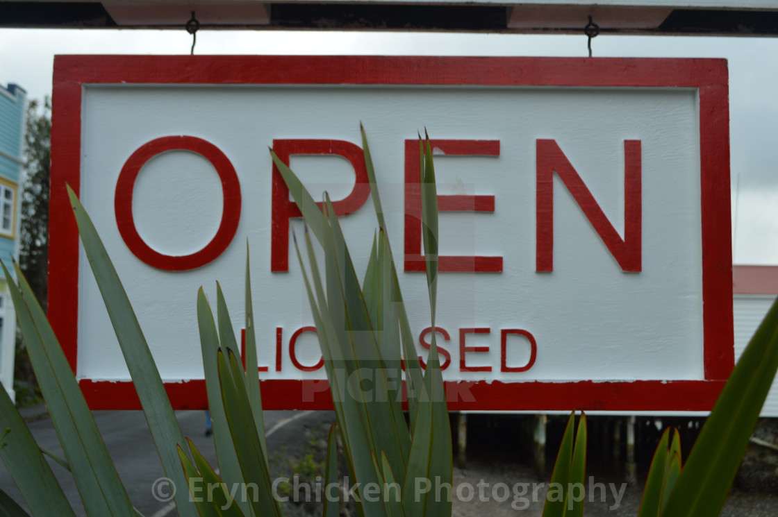"""""""Open Sign"""" stock image"""