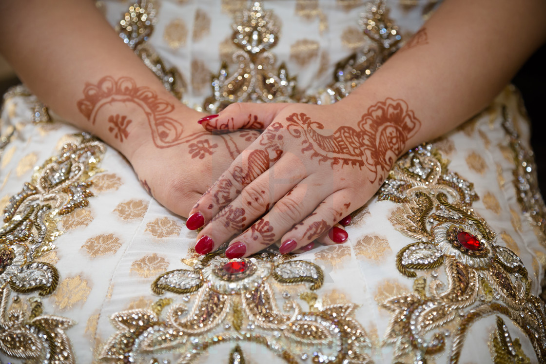 """Brides hands"" stock image"