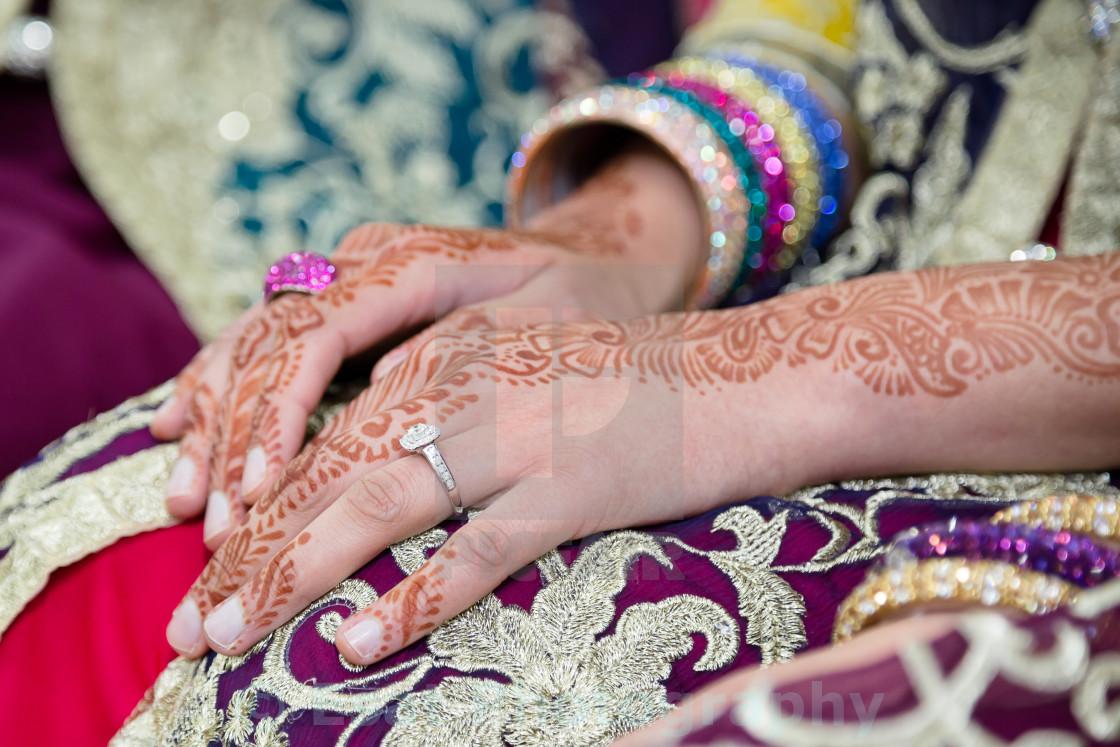 """""""Henna hand"""" stock image"""