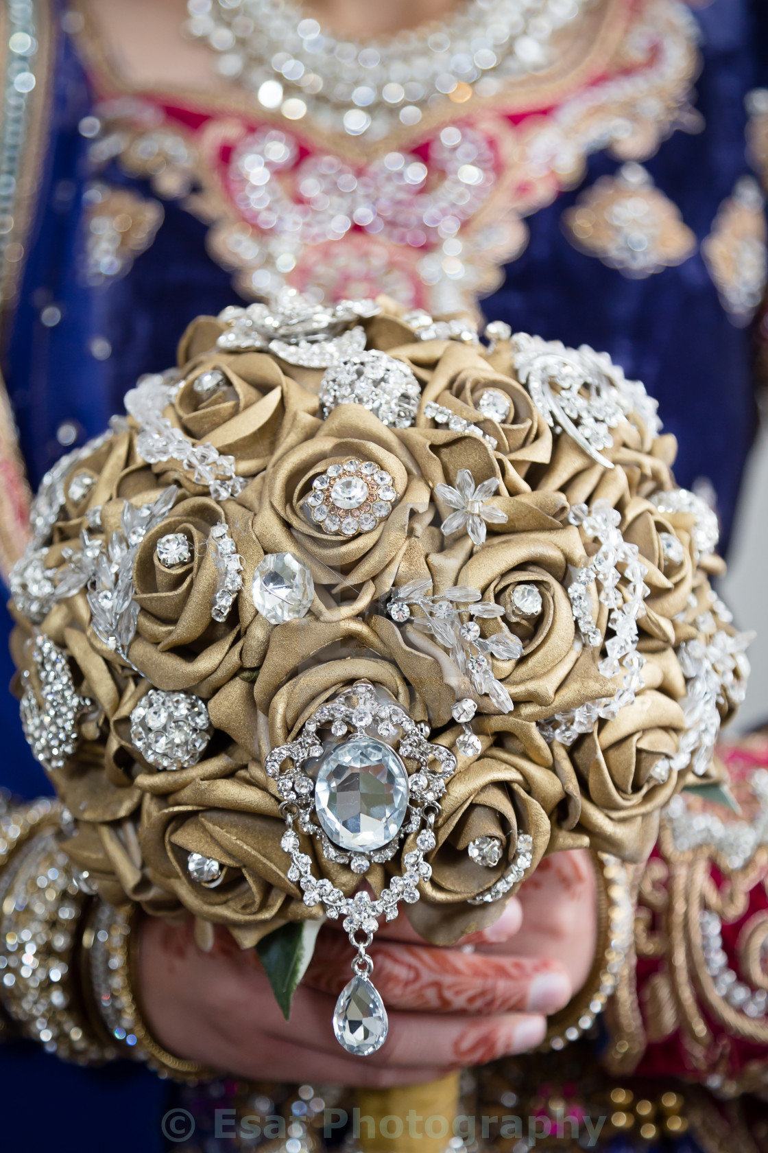 """""""Hold gold bouquet"""" stock image"""