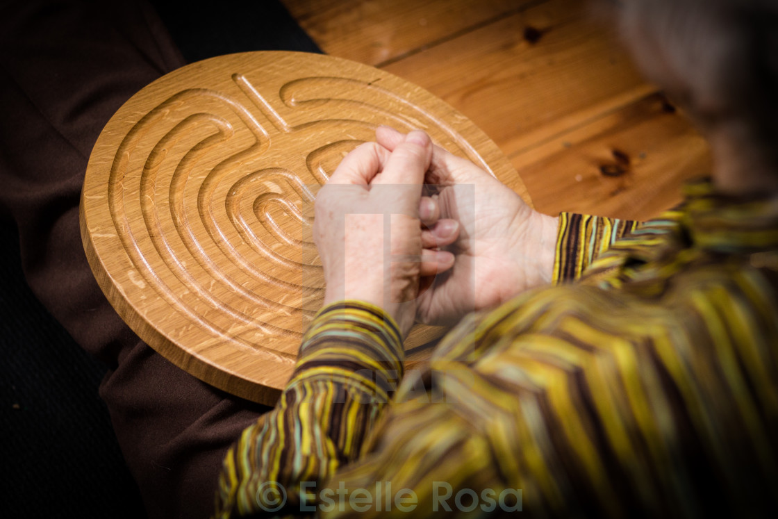 """wooden labyrinth"" stock image"