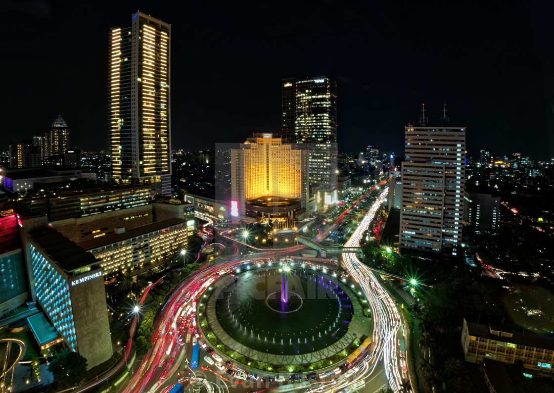 Jakarta at Night - License, download or print for £10.00 | Photos | Picfair