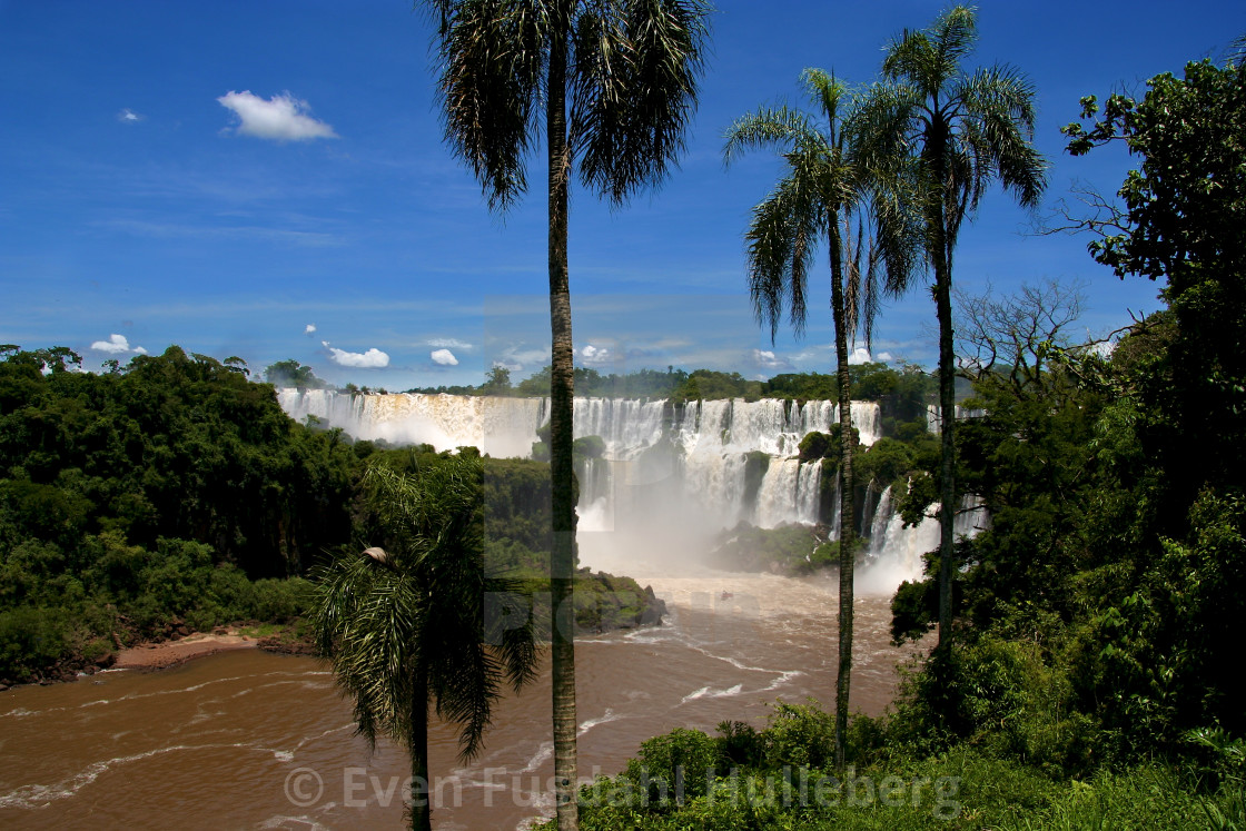 """The Iguazu Falls on the Argentinian side"" stock image"