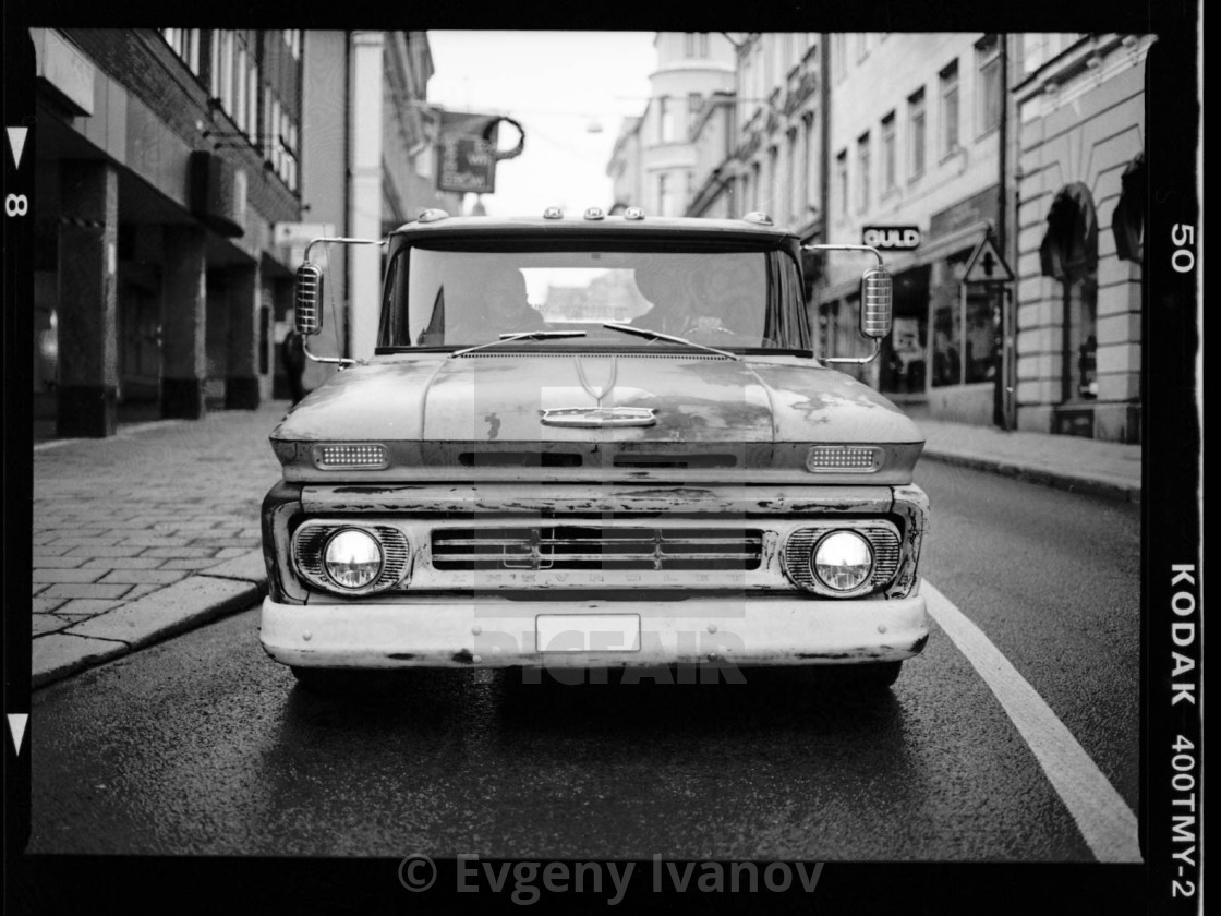Chevrolet Old Pickup Truck In Black And White Taken On Film License Download Or Print For 9 99 Photos Picfair