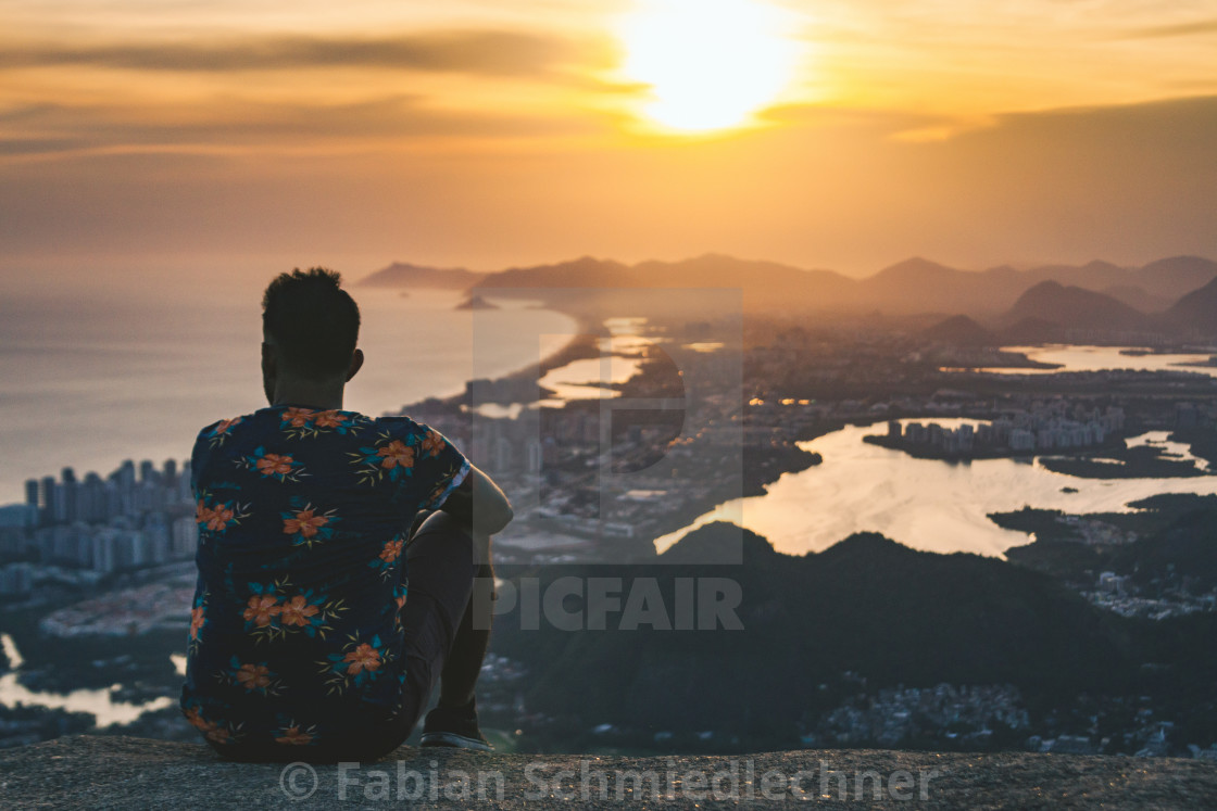 """Looking over Barra da Tijuca"" stock image"