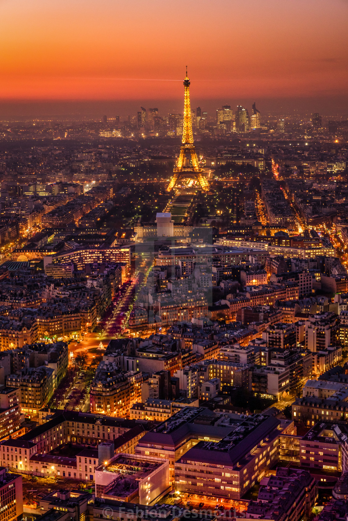 """Eiffel Tower at night"" stock image"