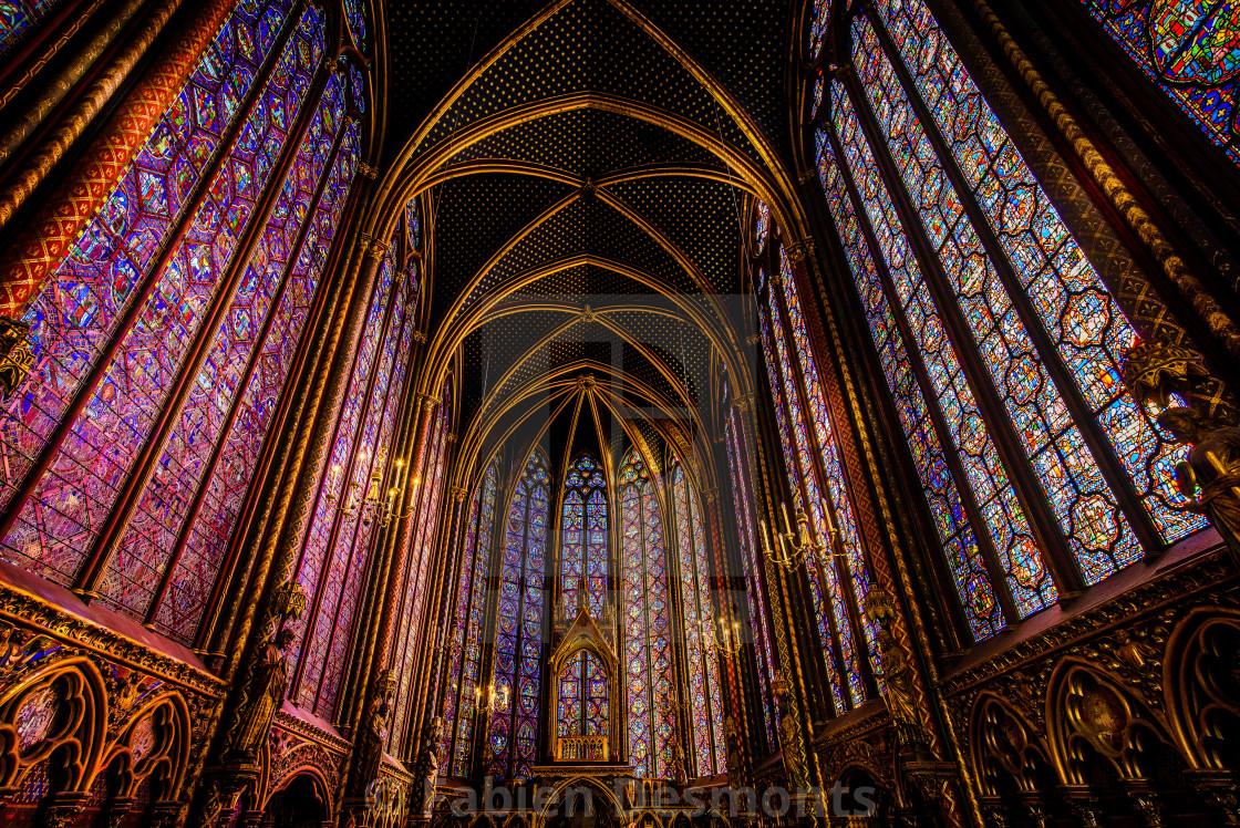 """""""Sainte Chapelle Church, Paris, France"""" stock image"""