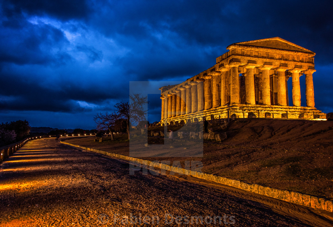 """Temple Valley, Agrigente, Sicily"" stock image"