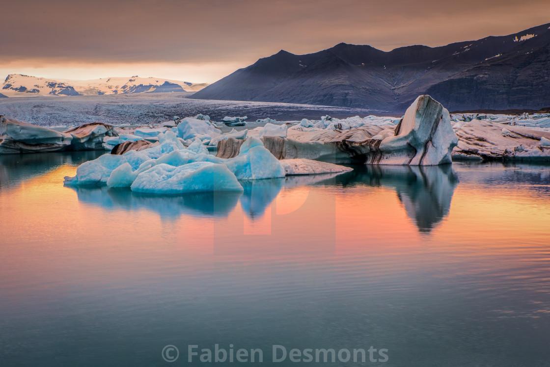 """""""Jokulsarlon Lake, Iceland"""" stock image"""