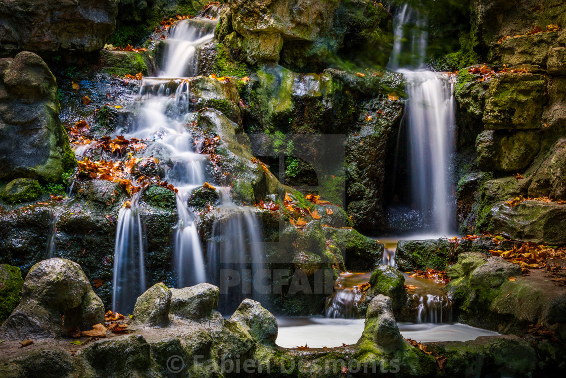 """Waterfall in Fall"" stock image"
