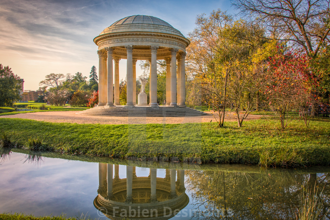 """The Park of the Versailles Palace"" stock image"