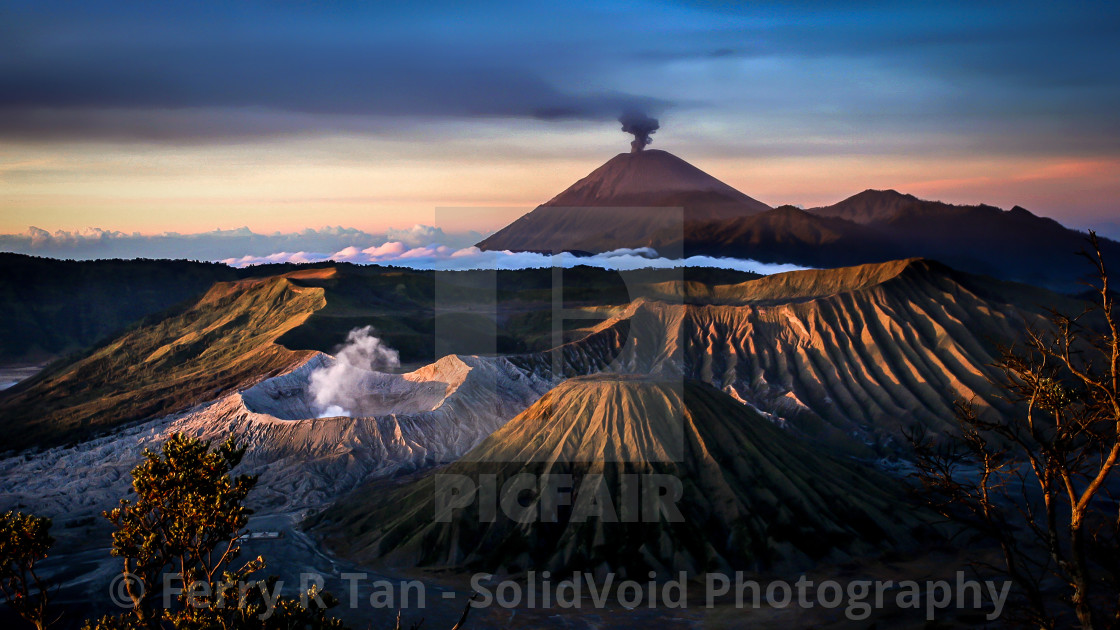 """Mt. Bromo, east Java"" stock image"