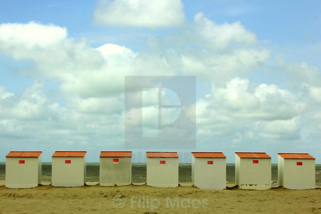 """Beach Cabins"" stock image"