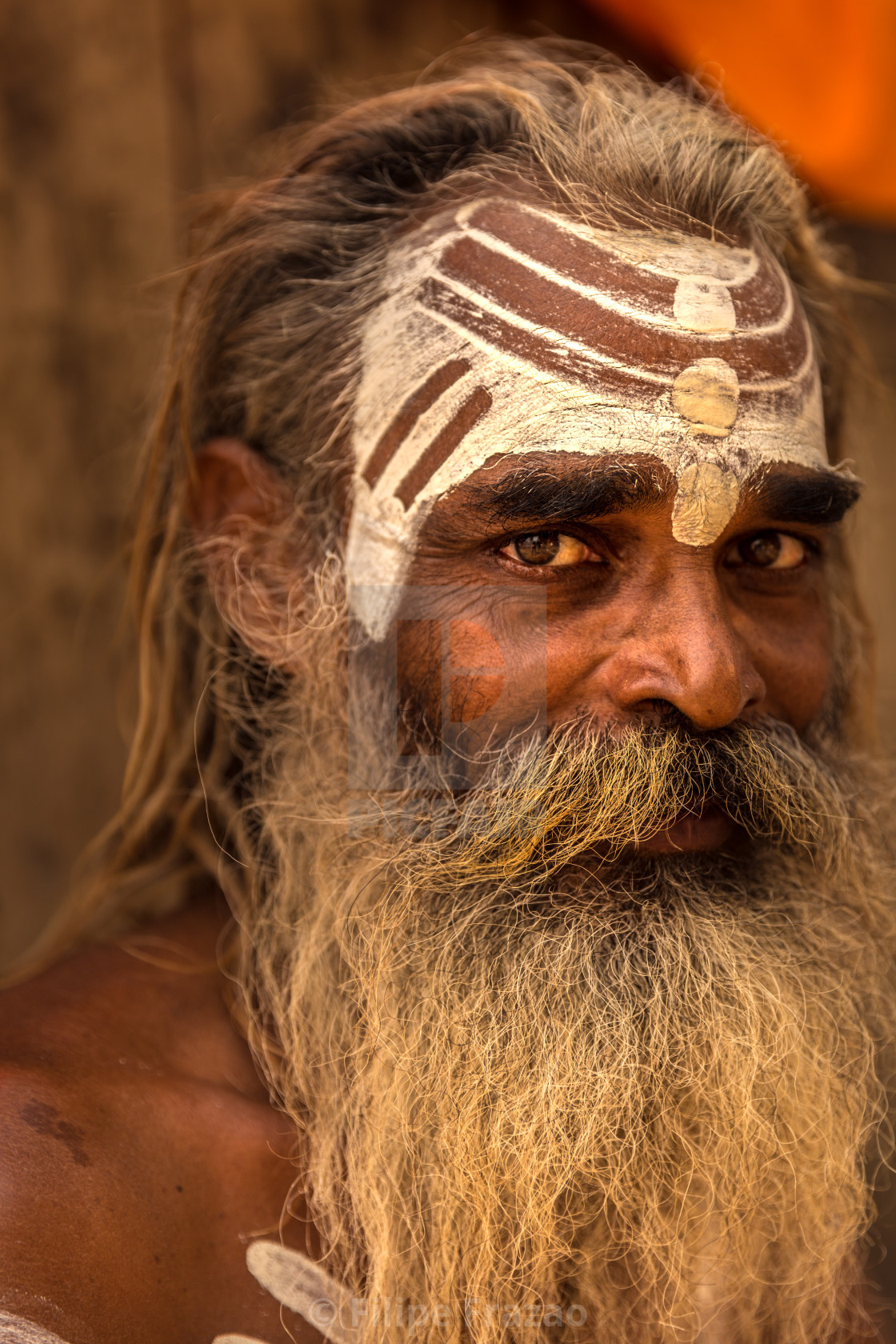 """Sadhu man in Varanasi, India"" stock image"