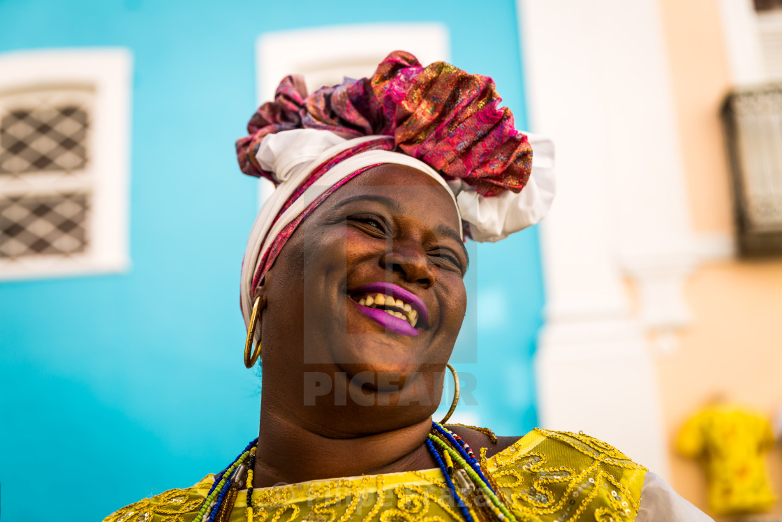 """Brazilian woman of African descent, Bahia, BrazilBrazilian woman of African descent, Bahia, Brazil"" stock image"