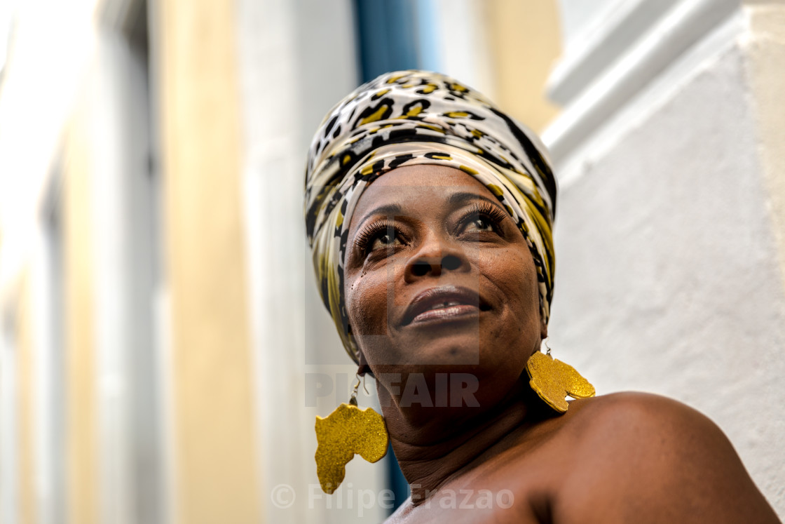 """Brazilian woman of African descent, Bahia, Brazil"" stock image"