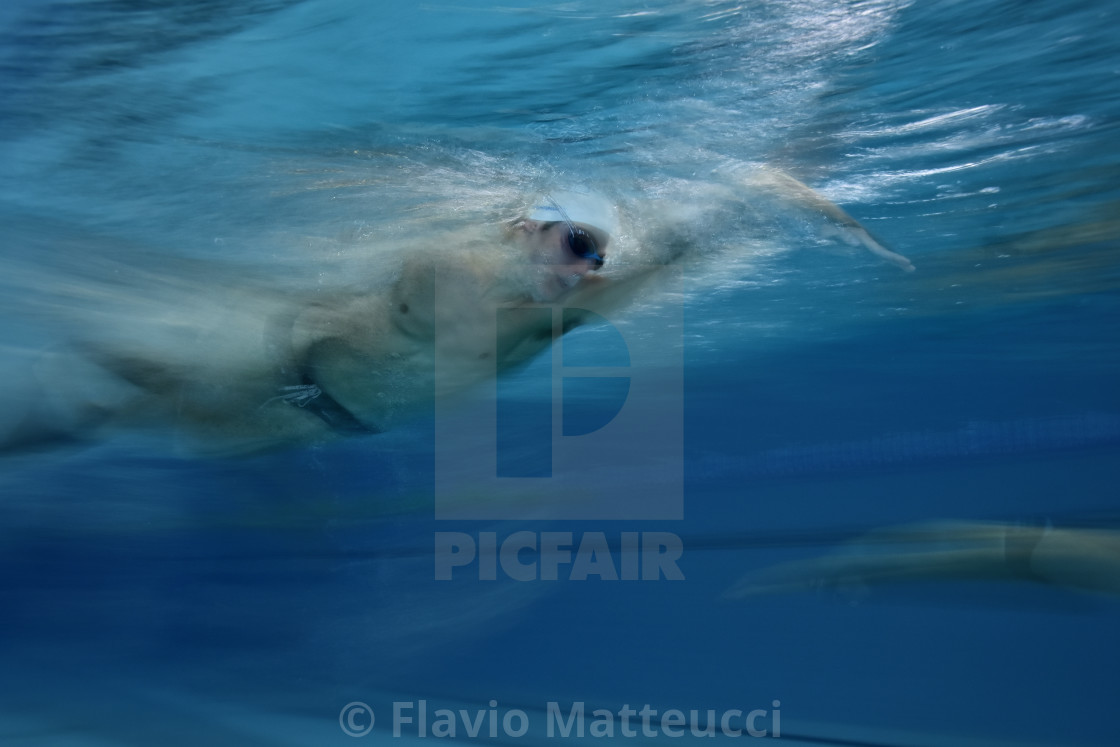 """athlete swim crawl very fast"" stock image"
