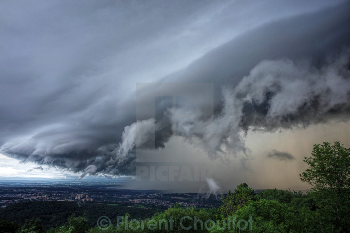 """Huge storm cloud"" stock image"