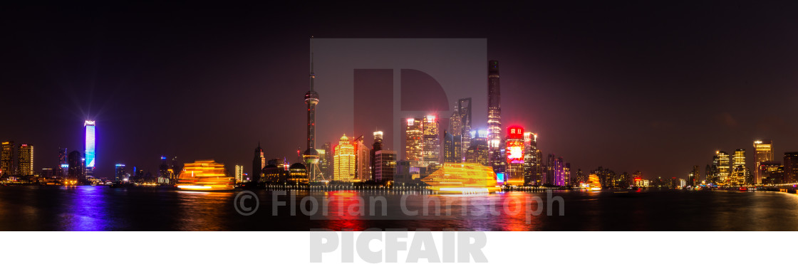 """Shanghai a night"" stock image"