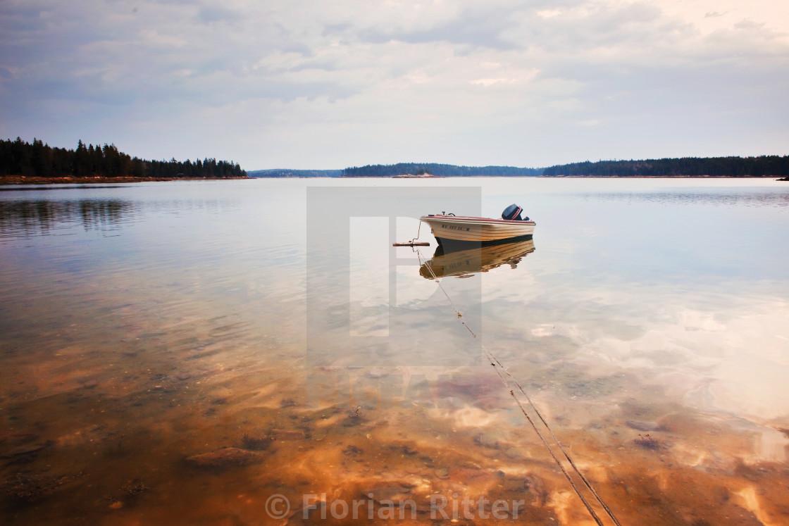 """Maine Fishing boat"" stock image"