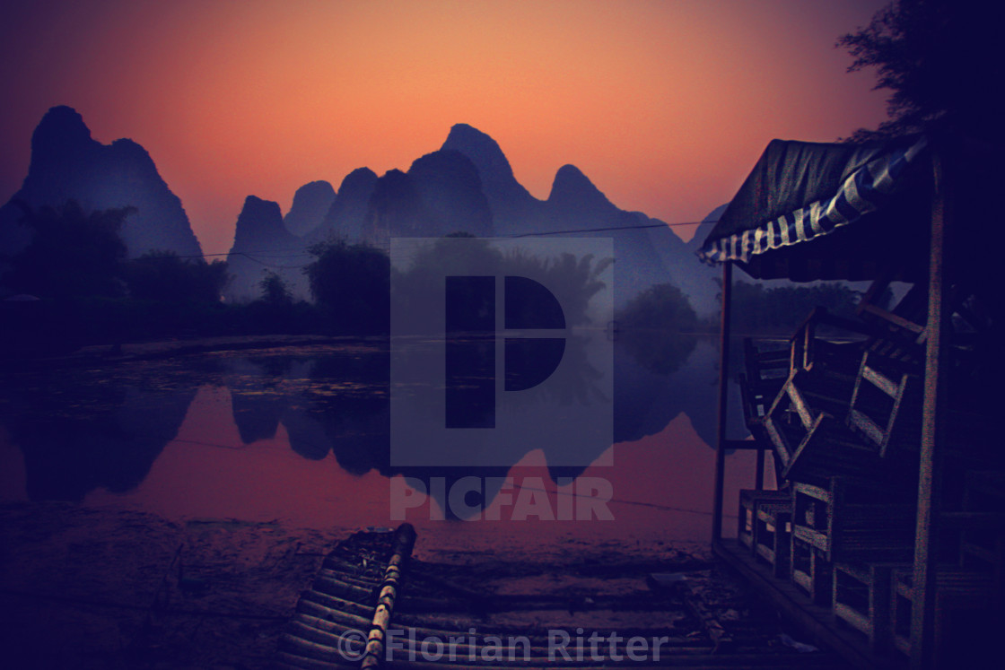 """""""Guilin sunset"""" stock image"""