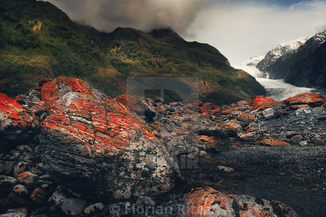"""FR Red Moss Glacier"" stock image"