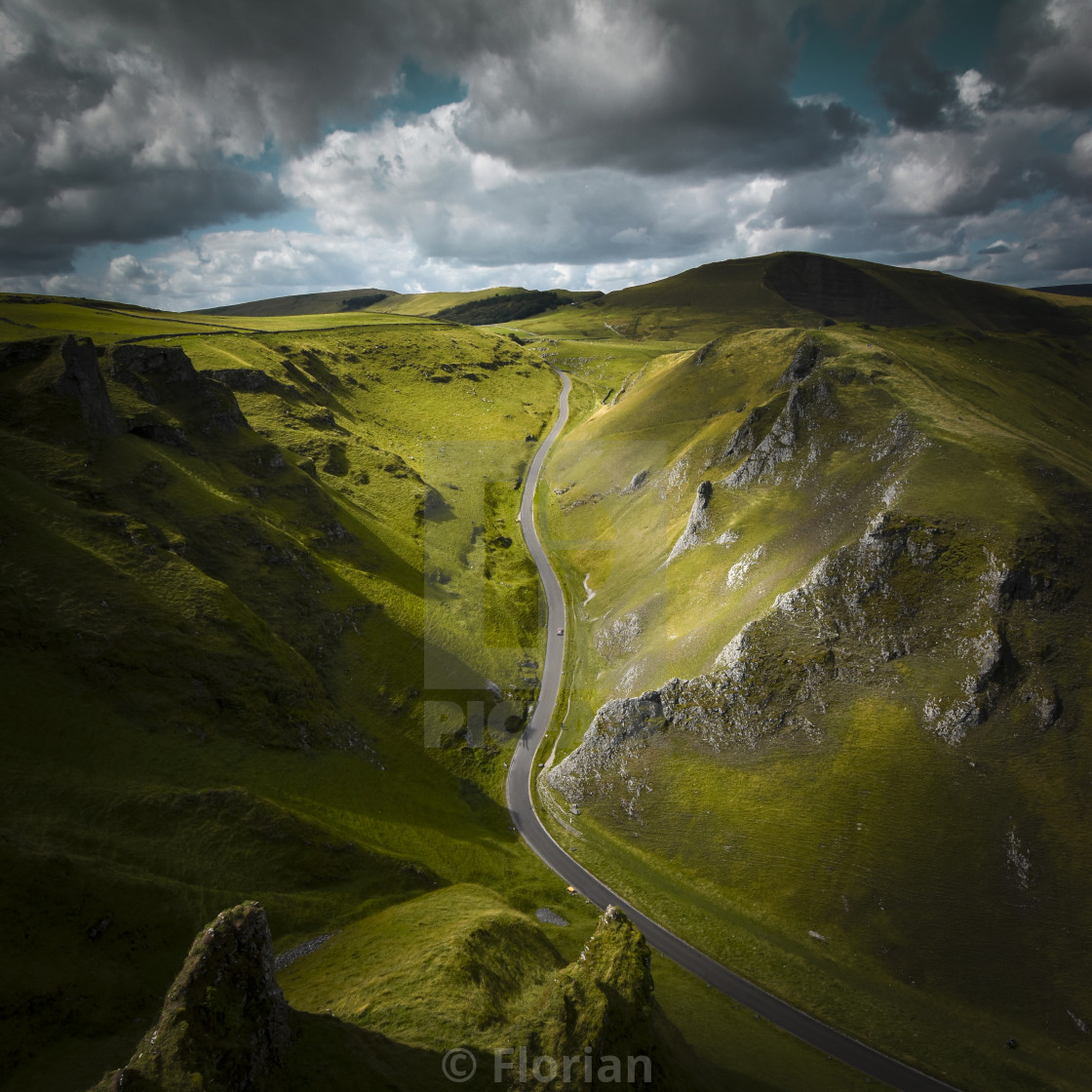 """Winnats Pass"" stock image"