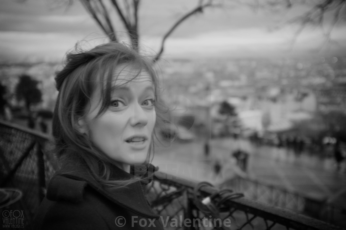 """Girl in Paris"" stock image"