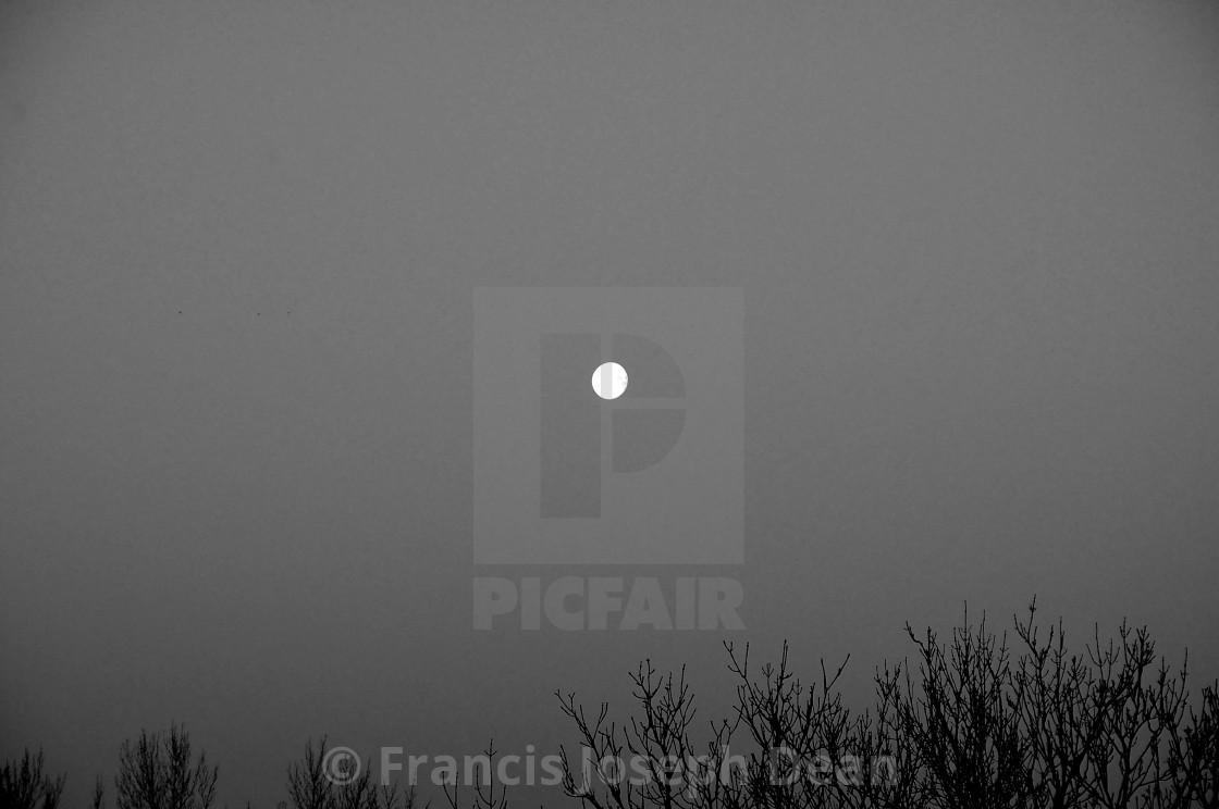 """MORNING MOON ON MONDAY MORNING"" stock image"