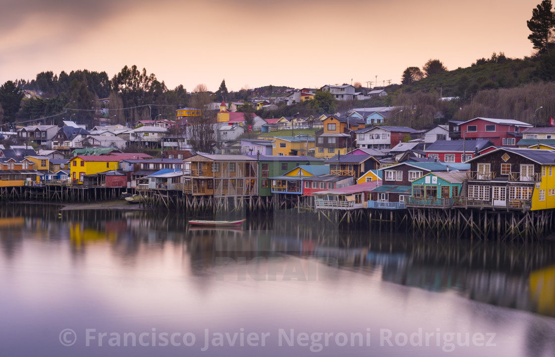 """Palafitos, Chiloé, Chile."" stock image"