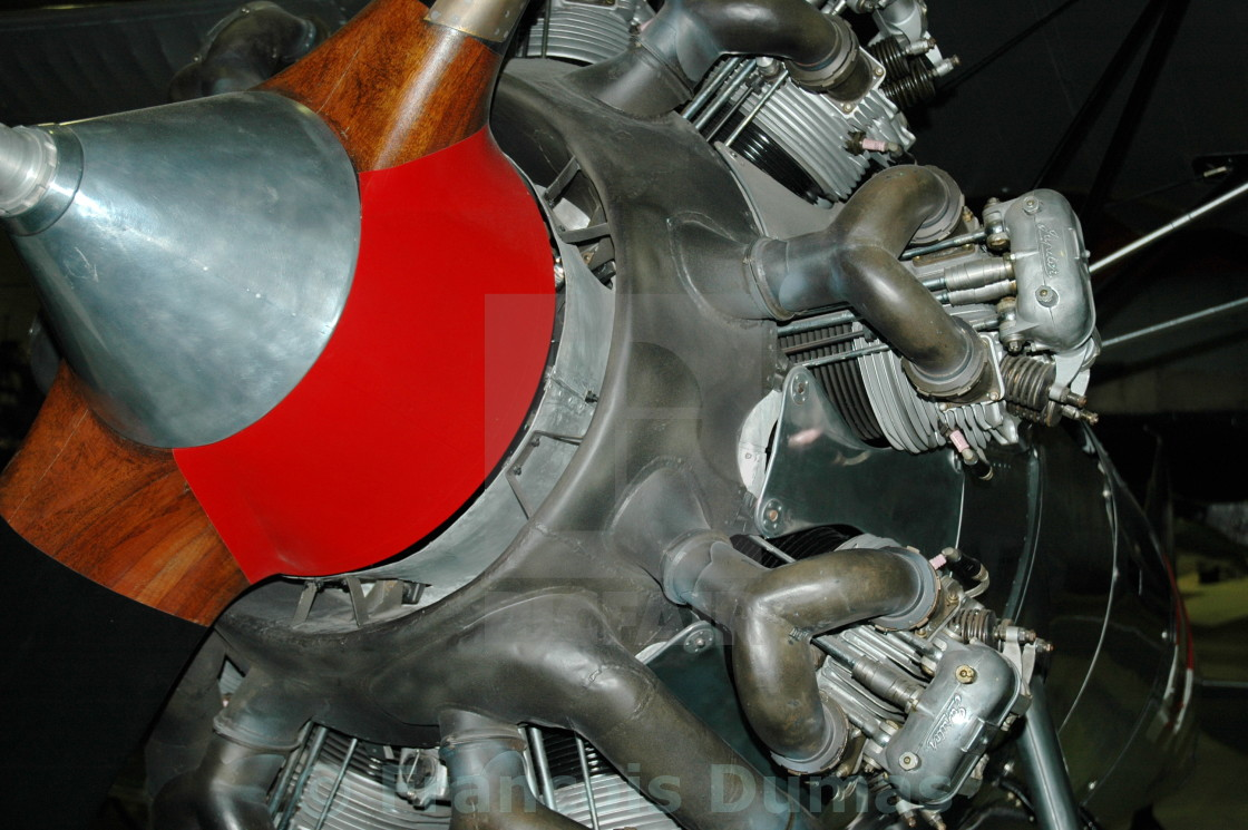 """""""Old radial engine"""" stock image"""