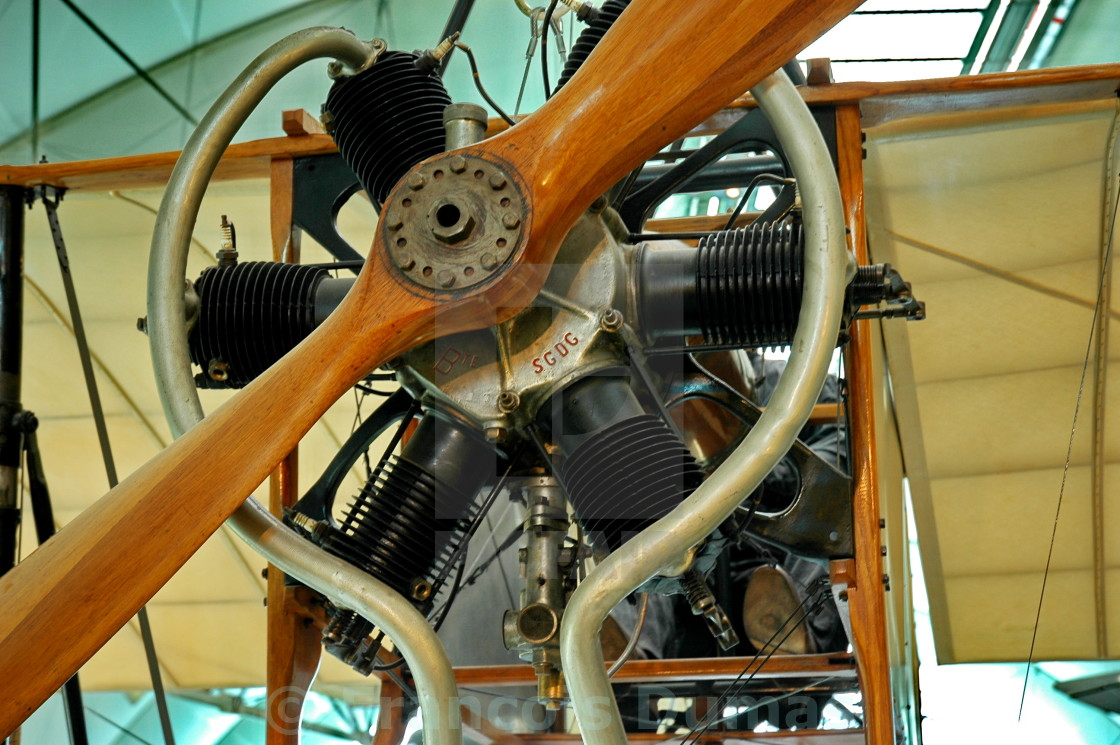"""Very old radial engine"" stock image"