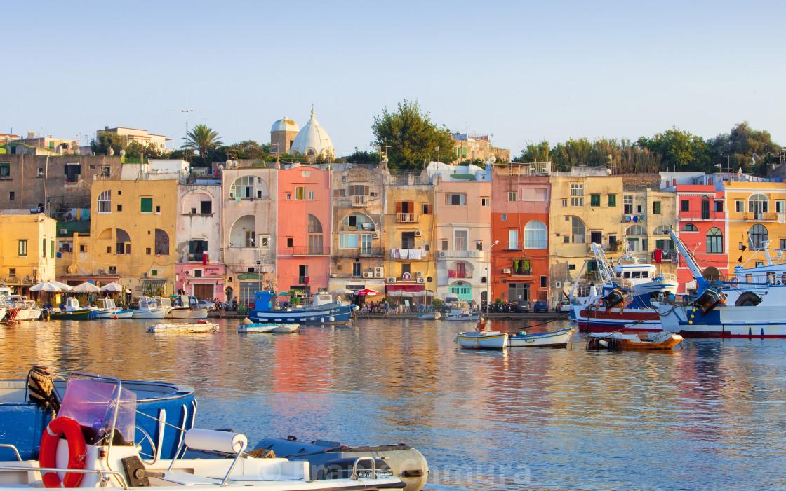 """""""Marina Grande, Procida Isle, Italy"""" stock image"""