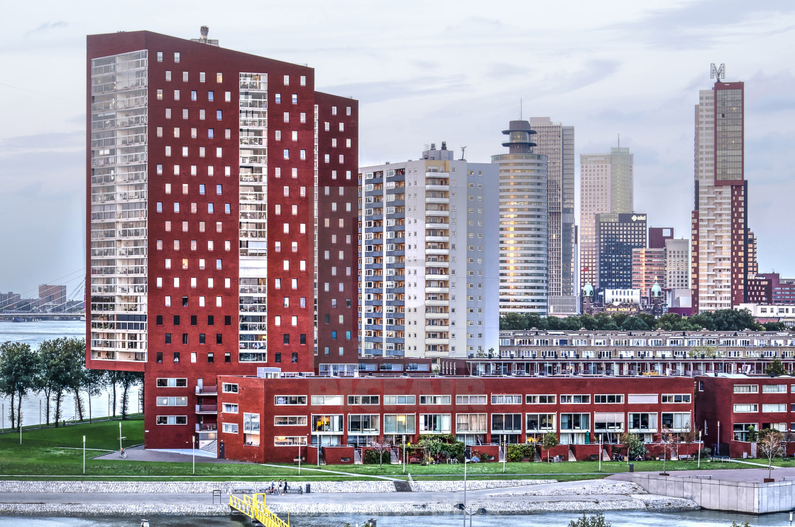 """""""Red residential towers"""" stock image"""