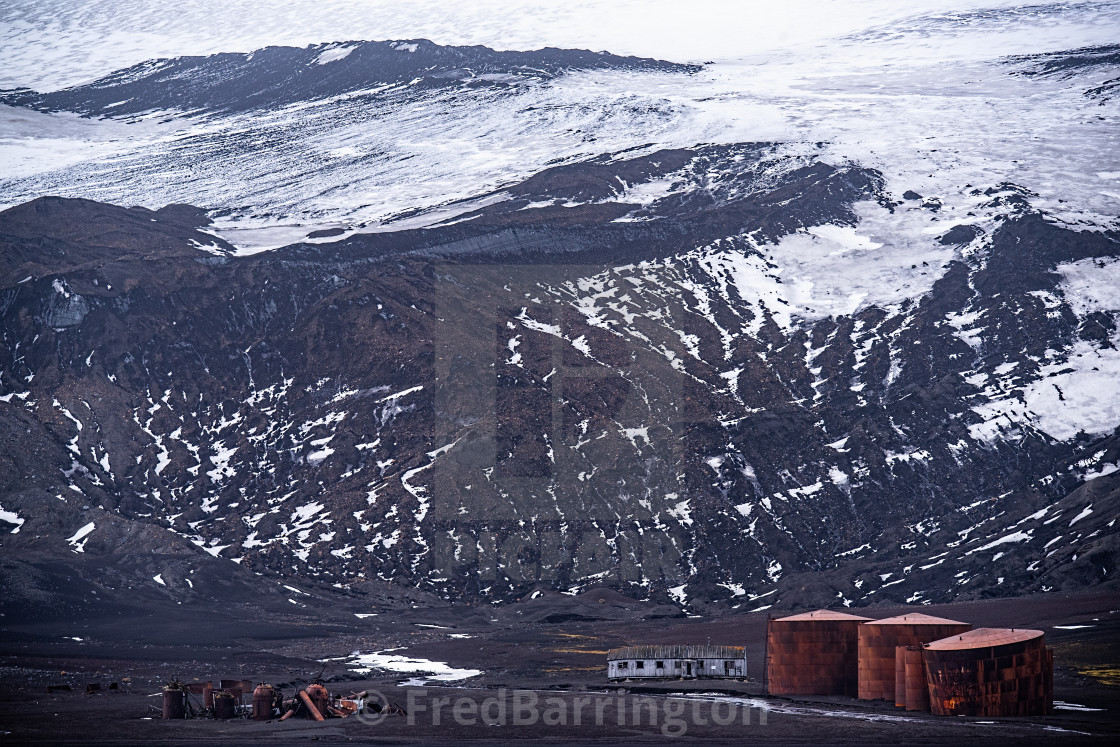 """Whaling Station - Deception Island"" stock image"