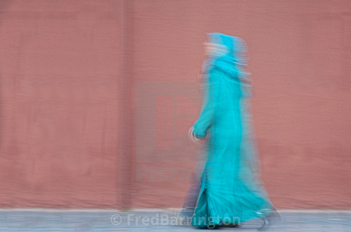 """Woman Walking quickly"" stock image"