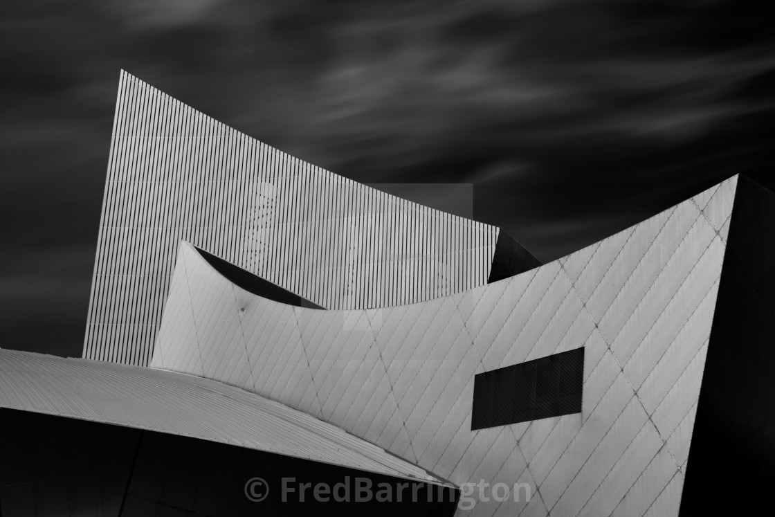 """Imperial War Museum North - Rooves"" stock image"