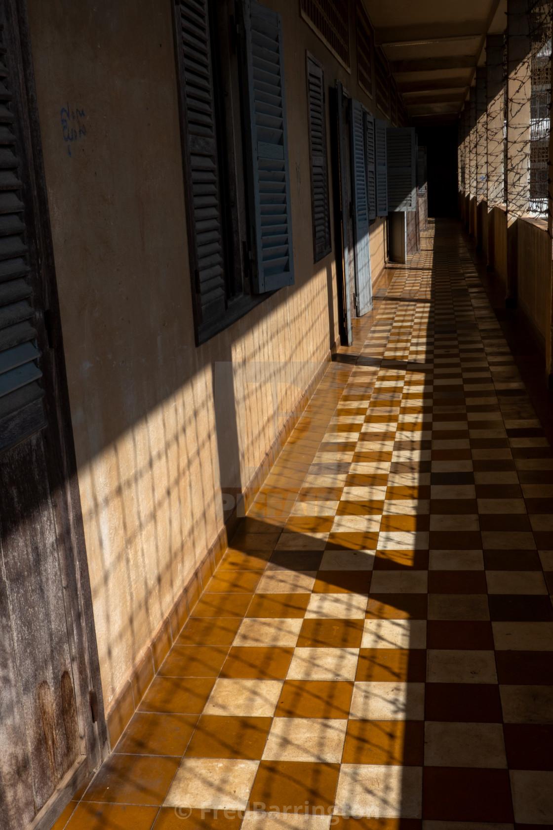 """""""Corridor, Prison 21"""" stock image"""