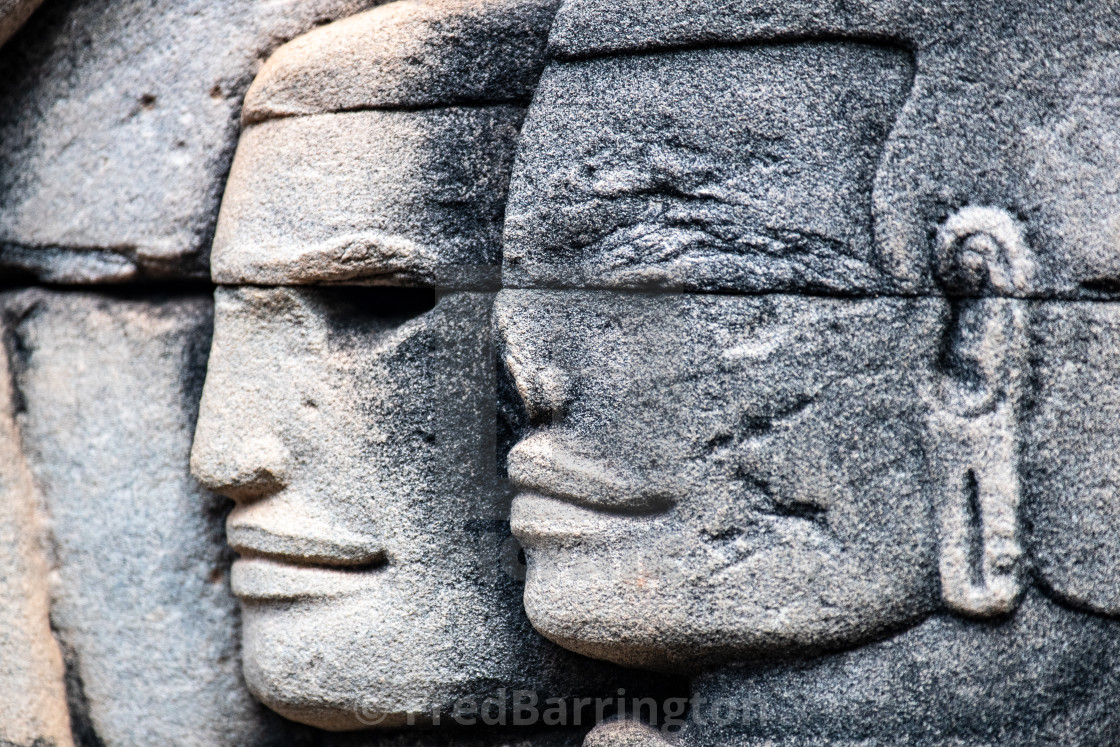 """Detail Angkor Thom (Cambodian Soldiers)"" stock image"